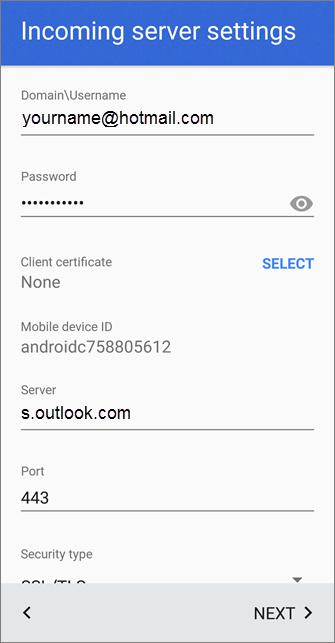 Outlook.com settings