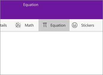 Equation button
