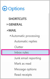 Inbox Rules