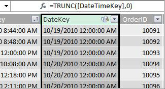 DateKey column