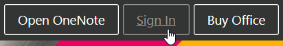 Sign in to OneNote online