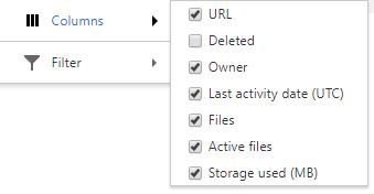 Column options