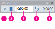 shows recording timings box for powerpoint