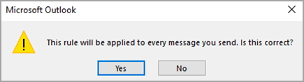 Confirmation message