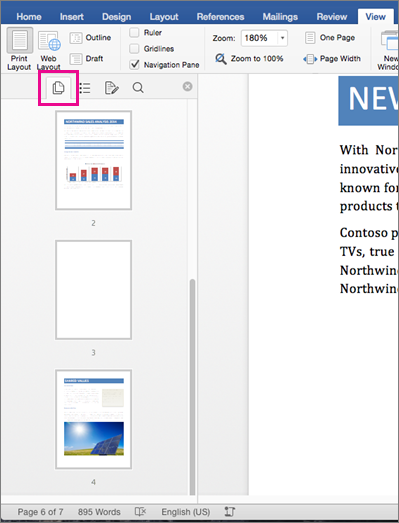 Insert a blank page in Word for Mac - Word for Mac