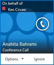 Conference call alert