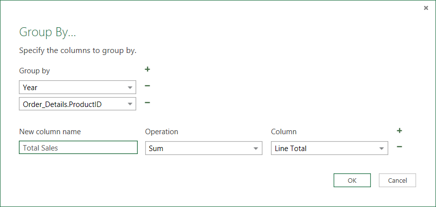 Group rows in a table (Power Query) - Excel
