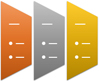 Trapezoid List SmartArt graphic layout