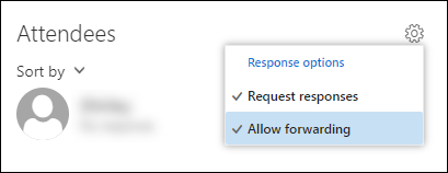 Screenshot of allow forwarding option