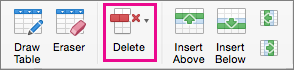 On the Layout tab, select Delete