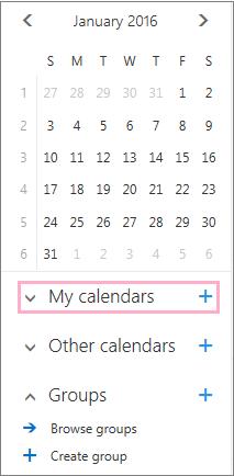 Add a new calendar