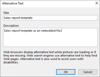 Add alt text to a file printout dialog