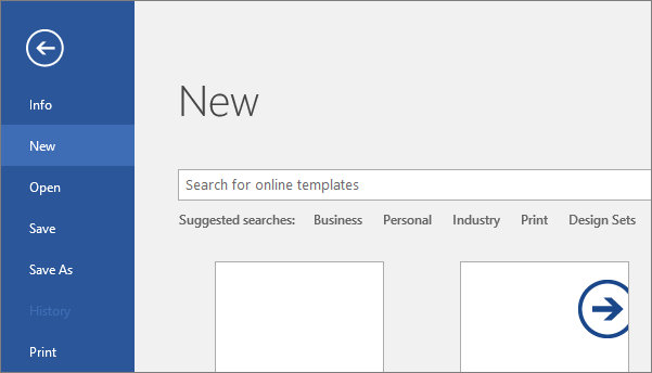 Find and apply a template - Office Support