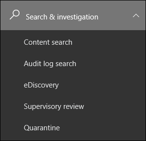 Search & investigation features in the Office 365 Security & Compliance Center