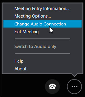 Click Change Audio Connection