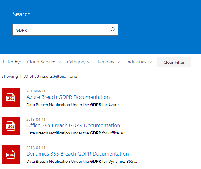 STP Search results - search term GDPR