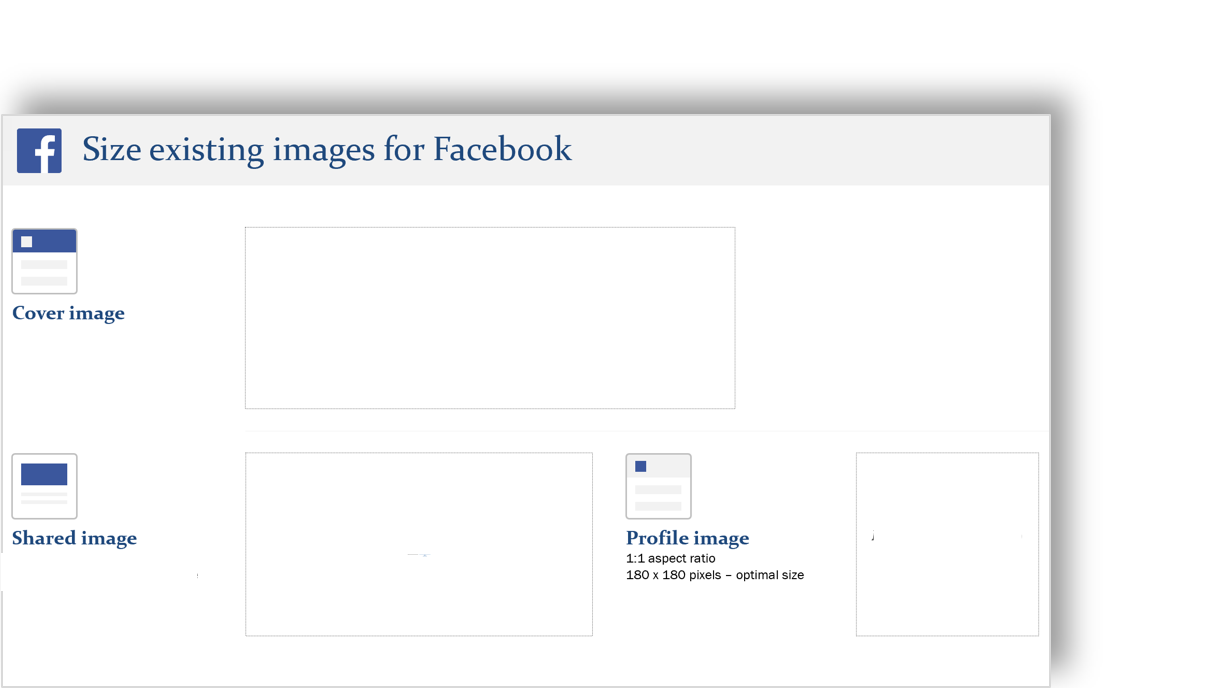 conceptual image of a social media image template