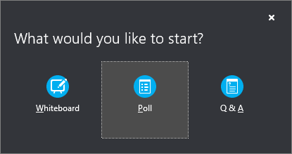 Poll button
