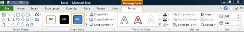 The Format tab under Drawing Tools