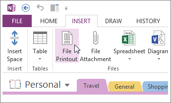 Insert a presentation into OneNote so you can make annotations.