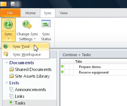sharepoint workspace 2010