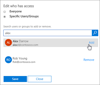 Add users to Office 365 Add-In