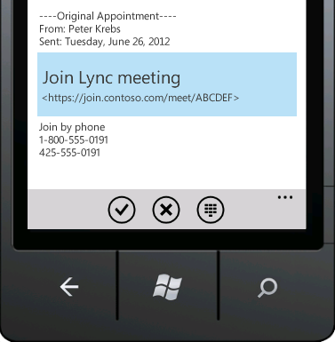 Join Lync meeting