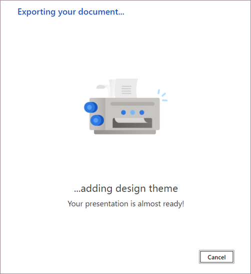 Converting document to presentation