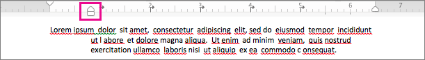 Select the top part of the arrow and drag it to the indentation you want