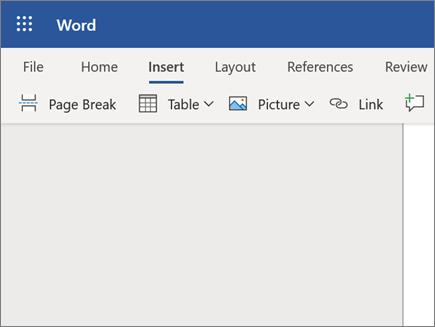 Insert Picture in Word Online