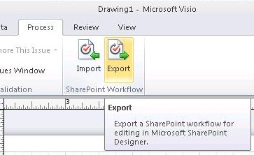 Create, import, and export SharePoint workflows in Visio