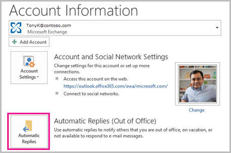 Automatic Replies (Out of Office)