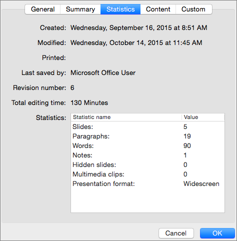 Find the word count of your presentation - Office Support