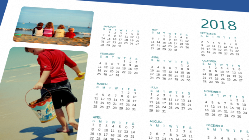 Photo calendar template in Word
