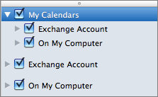 Outlook 2016 Mac My Calendars Group