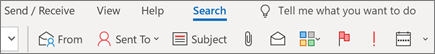 Using Search in Outlook