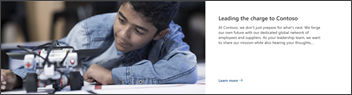 Image of the news web part on the leadership site template