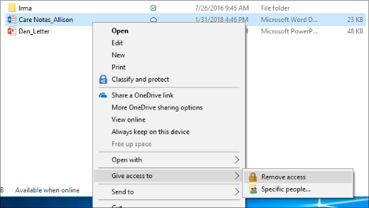 Stop sharing a file over a network