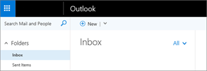 A picture of what the ribbon looks like in Outlook on the web.