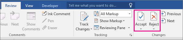 how to get rid of track changes