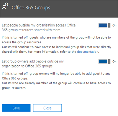 Let people outside my organization access Office 365 groups and resources