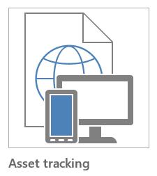 Asset tracking app template