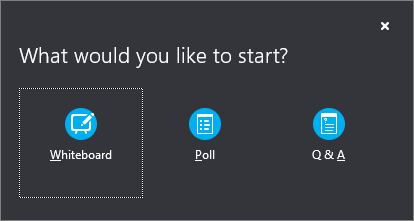 Use the whiteboard to collaborate in a Skype for Business