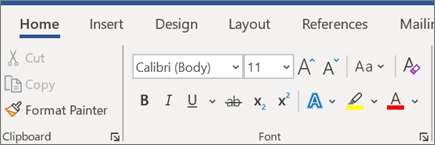 Add and format text in Word