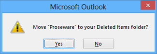 delete folder confirmation dialog box