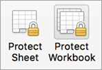 Password protection buttons