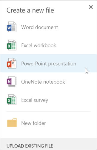 Create a new PowerPoint presentation