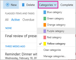 Task categories
