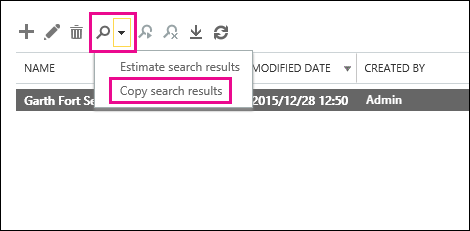 Click Search and then click Copy search results