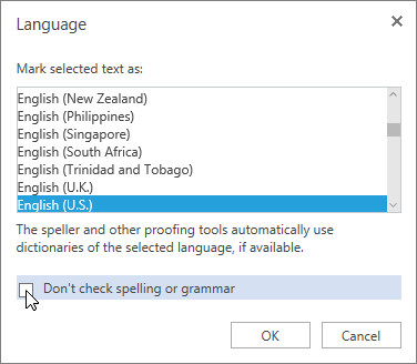 Check spelling and grammar in Word for the web - Word